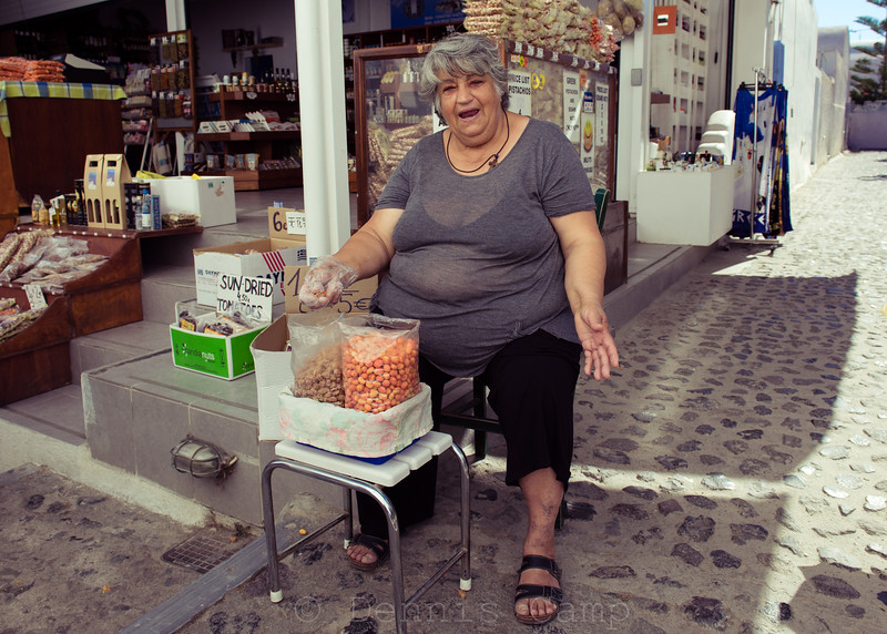 Santorini  Greek Island  Merchant