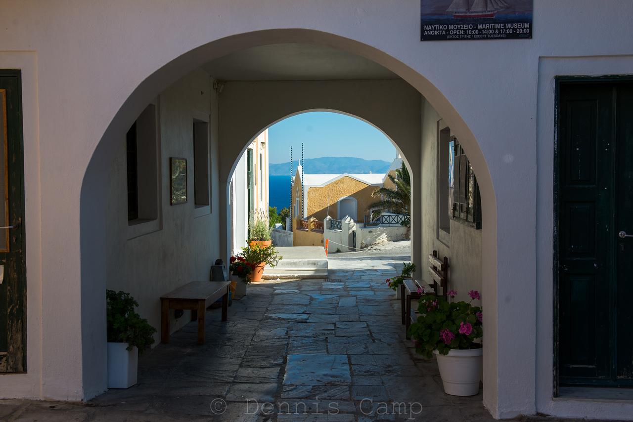 Santorini Arch View