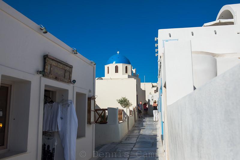 Santorini Church Path