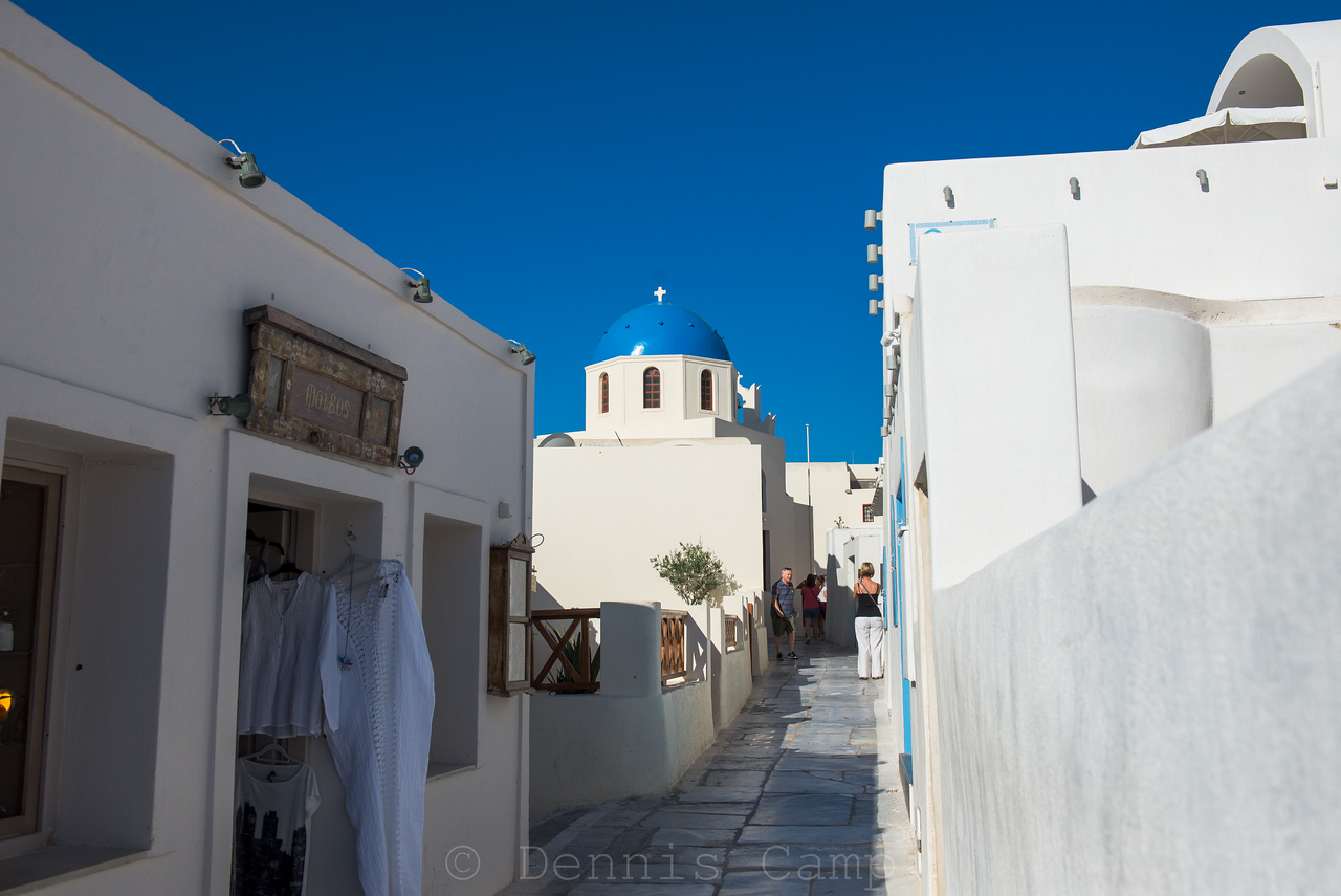 Santorini Church Path