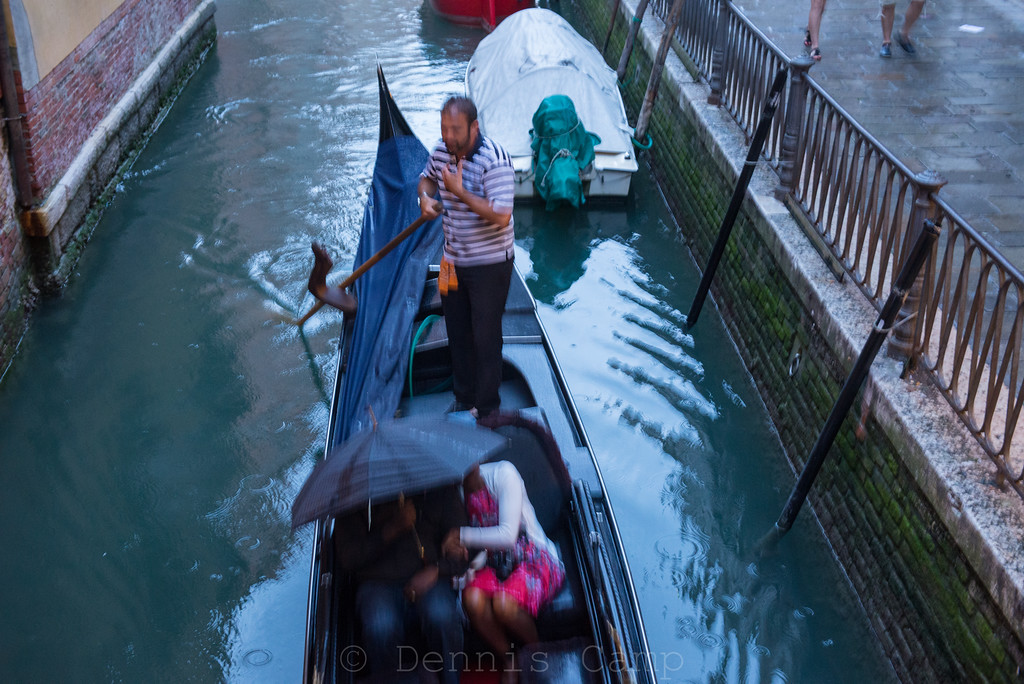 Rainy Romantic Gondola Ride