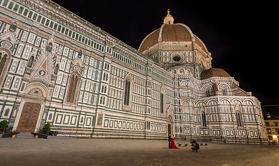 "Late night shoot at The Basilica di Santa Maria del Fiore (Saint Mary of the Flower), nicknamed ""the Duomo"" in Florence, Italy"