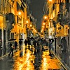"""""""Rain on Condotti"""" - Roma"""