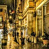 """Cold Rain in Lucina"" - Piazza San Lorenzo in Lucina - Roma"
