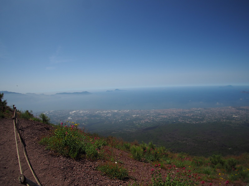 From the top of Mt. Vesuvius