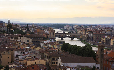 Overlooking Florence from Piazza Michelangelo