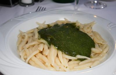 Regional pesto and pasta
