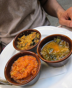 Soup trio in Florence - totally random spot for lunch, but one of our favorite meals in Italy