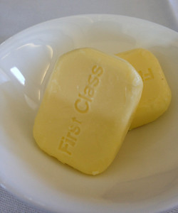 Just in case you didn't notice, the butter reminds you...