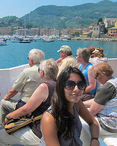 On a boat to Portofino