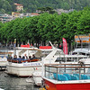Lake Como (the town of Como) ... we just boarded the boat for Varenna.  It will take about a dozen stops before we reach our destination.  The town of Como is just a couple of miles from the Seitzerland border.