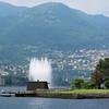 Fountain at the Como harbor entrance