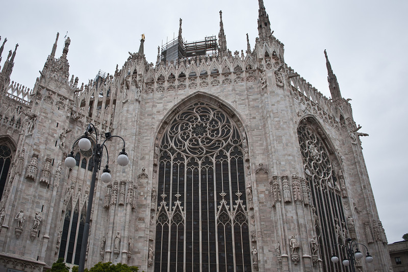 Milan's Duomo is the largest Gothic Cathedral in the world.