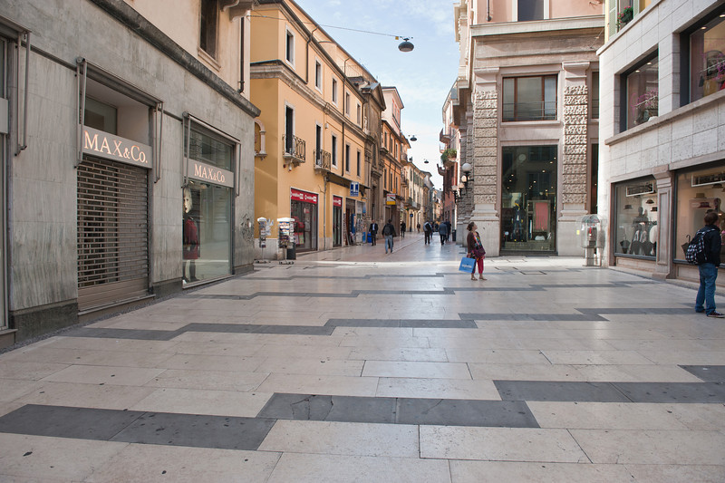 Many old streets in Verona are paved with marble, quarried nearby.