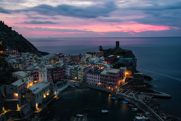 A colorful sunrise above Vernaza - Cinque Terre