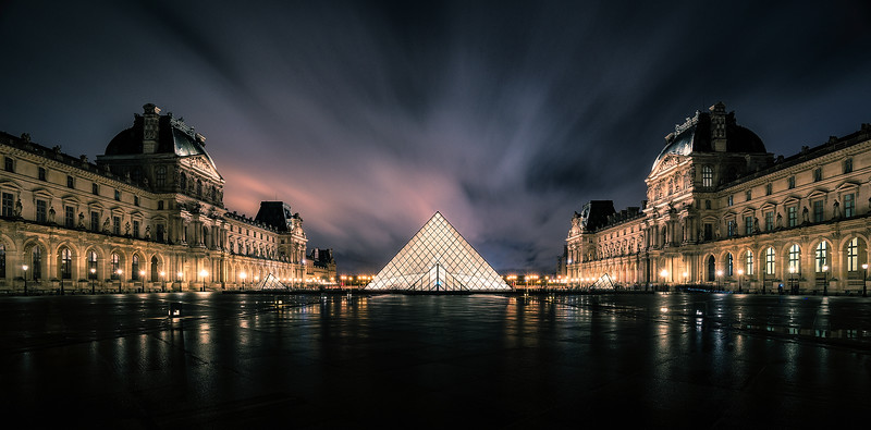 The Louvre at night - Paris