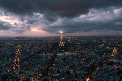 View of Paris from Montparnasse Tower Observation Deck - Paris