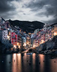 A moody night at Riomaggiore - Cinque Terre