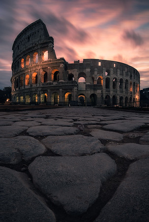 The Colosseum at sunrise - Rome