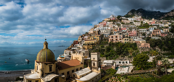 Overlooking Positano, located on the Amalfi Coast of Italy