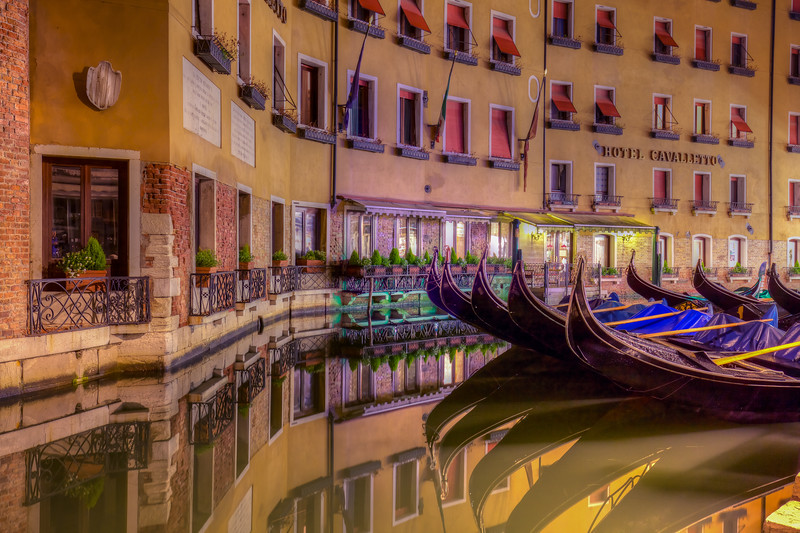 Gondolas At Hotel Cavaletto, Venice