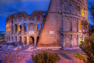 Roman Colosseum At Dawn, Rome