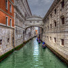 Gondola's Under Bridge Of Sighs, Venice