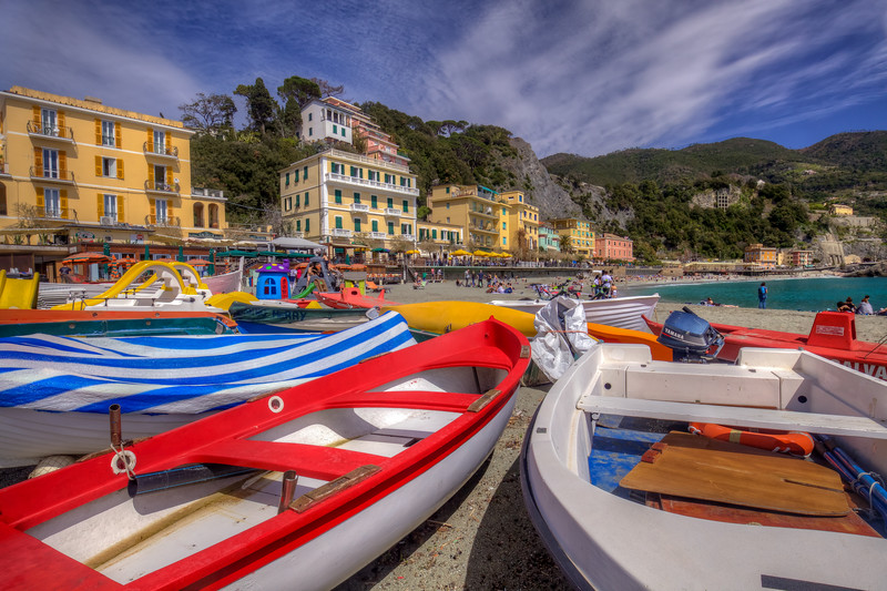 Boats At Monterosso, Cinque Terre