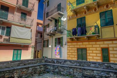 Drying Laundry In Corniglia, Cinque Terre