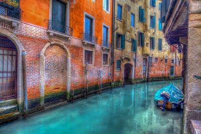 Houses Along Canal, Venice