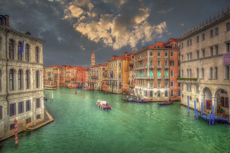 Boats On Grand Canal, Venice