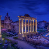 Roman Forum At Night, Rome
