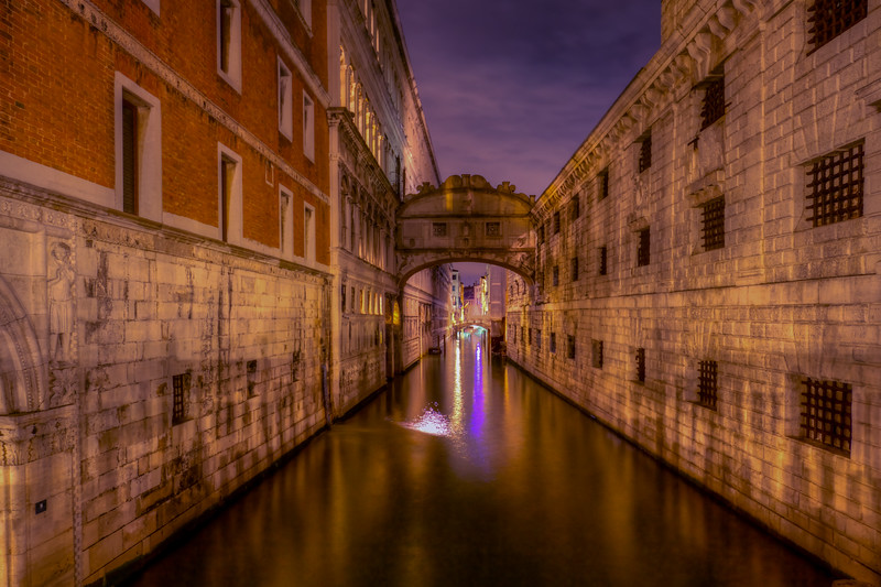 Bridge Of Sighs At Night, Venice
