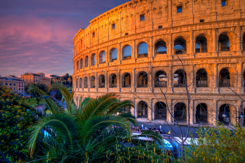 Sunset At Colosseum, Rome