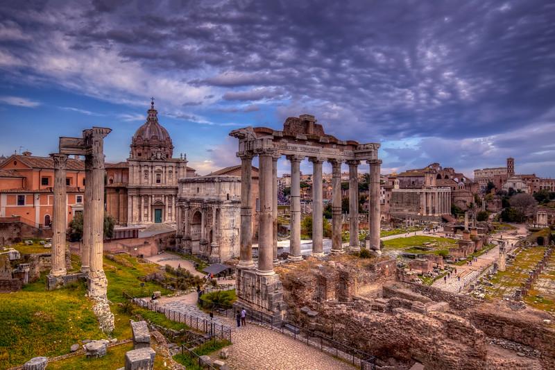 Clouds Over Roman Forum, Rome