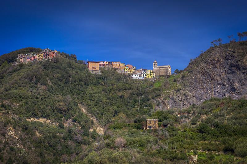 Houses On Hill, Corniglia Cinque Terre