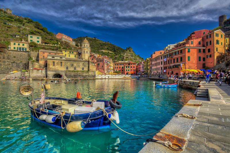 Harbor At Vernazza, Cinque Terre, Italy