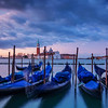 Blurred Gondalas In Venice