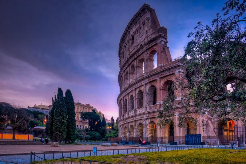 Dusk, Roman Colosseum, Rome