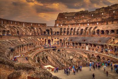 Colosseum In The Rain, Rome
