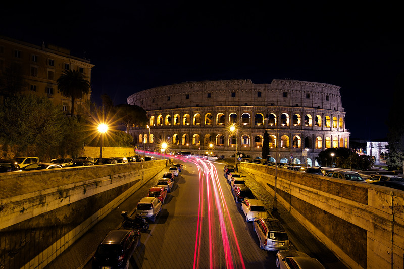 Roman Colosseum, Rome (Long Exposure)