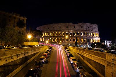Roman Colosseum, Rome (Long Exposure)