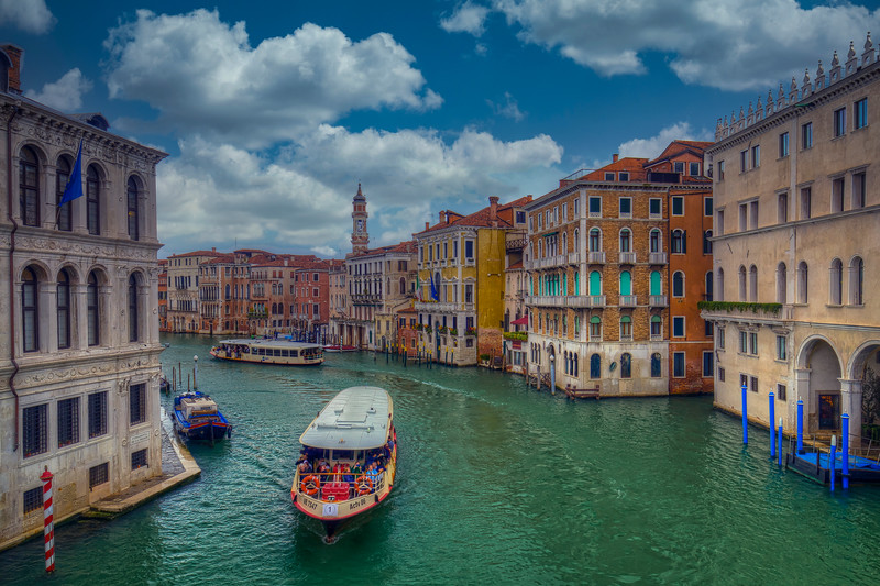 Tour Boat On Grand Canal, Venice