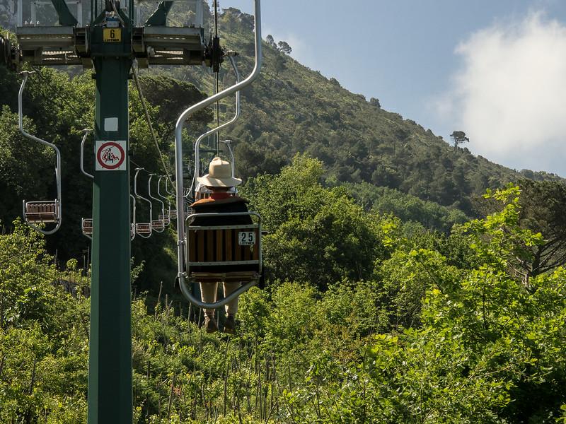 Claudia from the Monte Solara lift