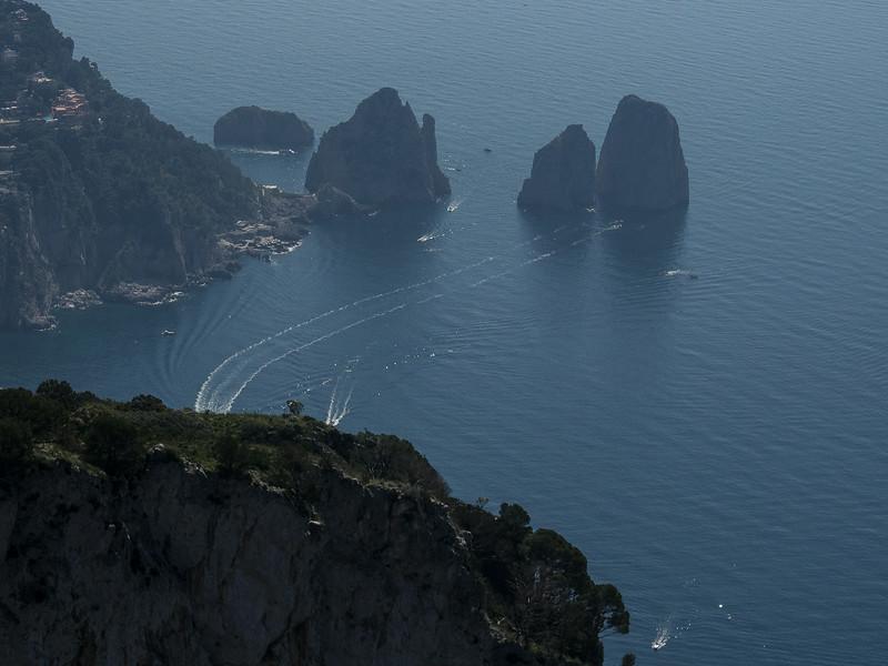Bay of Naples from Monte Solara Faraglioni Rocks