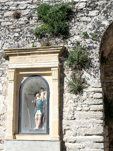 Erice Sicily - Shrine of St. Christopher to ask for blessings before leaving the town