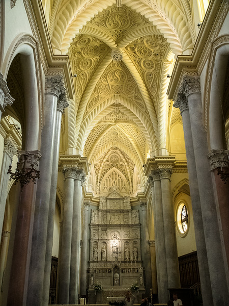 Matrice church with 1513 marble altarpiece and 1852 vaulting