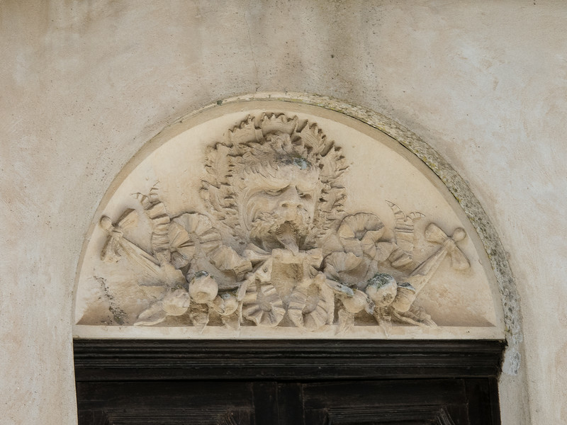 Erice, Sicily - Carving over a window