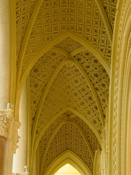 Matrice - gothic church from 1300s with cream colored vaulting from 1852