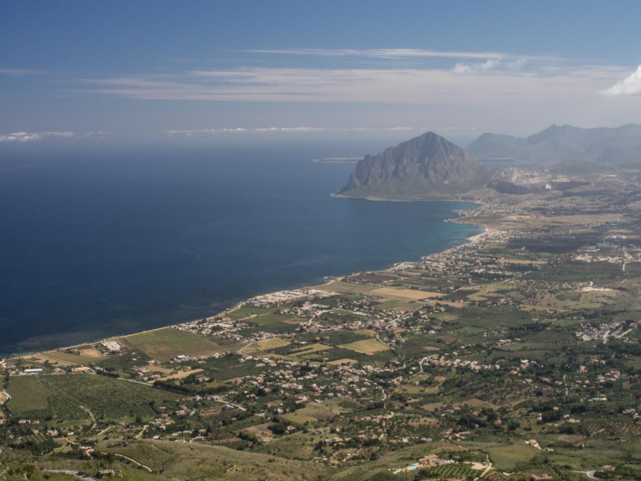 Sicilian coastline from Erice